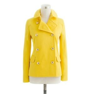 New J.Crew yellow spring peacoat jacket